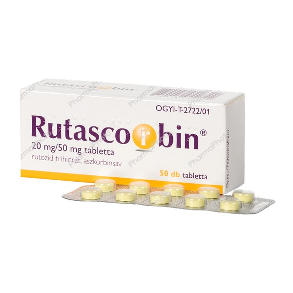 Rutascorbin 20 mg50 mg tabletta 50x197075 2020 tn